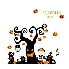 <b>Halloween</b> Wall Stickers Pumpkin Light <b>Patterned</b> Wall Decals ...