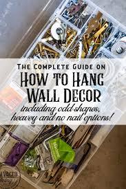 to hang decor items