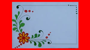 Flower Border Designs For Paper Flower Border Design For Projects On Paper A4 Front Page Design For