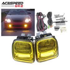 2000 Honda Accord Yellow Fog Lights Jdm Fog Lights Lamp For Honda Civic Ek 1996 97 98 2 3 4dr