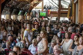 germany supporters packed the plattdeutsche park beer garden