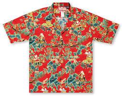 Red Checking Hawaiian Shirts From Aloha Shirt Shop Rjc Christmas