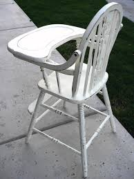 vintage wooden high chair cover