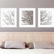 modern tree branches art prints set of 3 11x14 prints