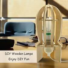 diy e27 wooden dimmer desk light decorative robot table lamps child kids student friend birthday present fancy toy gift in desk lamps from lights