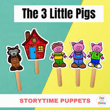 Not just any big bad wolf, but the big bad wolf. Free Printable Stick Puppets The Three Little Pigs Fun With Mama