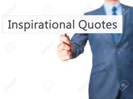 Inspirational Quotes Businessman Hand Holding Sign Business