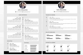 Microsoft Office Resumes John Alexander Resume Template Timeline