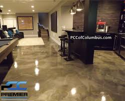 basement flooring metallic epoxy finish stained concrete columbus ohio