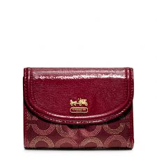 Coach Madison Dotted Op Art Medium Wallet in Red - Lyst