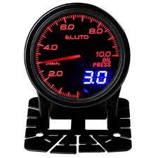 <b>12v 2 inch</b> 52mm oil pressure gauge meter with sensor 7 color led ...