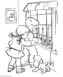 Small Picture Free Christmas candle coloring pages