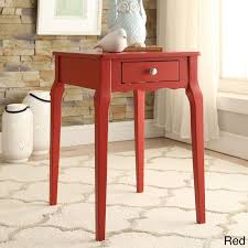 Daniella 1-drawer Wood Storage Accent Side Table by Inspire Q (Red)