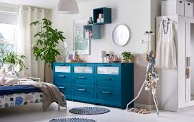 bedroom design ikea. A Bedroom In Neutrals With Three Blue Chest Of Drawers Row. Design Ikea