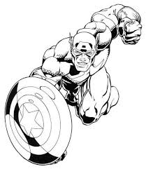 captain america marvel superheroes coloring pages