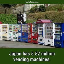 Facts About Vending Machines Magnificent Facts Zone Japan Has 48482 Million Vending Machines