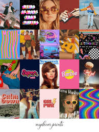 5 out of 5 stars. Boujee Retro 1 Aesthetic Wall Collage Kit Digital Download 70pcs Vintage Y2k 80s 90s Vsco Rainbow Girl Trendy Bedroom Decor Dorm Room In 2021 Wall Collage Rainbow Aesthetic Aesthetic Collage