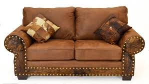 rustic sofas and sectionals cowhide and microfiber group