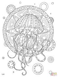 Small Picture Jellyfish With Tribal Pattern Coloring Page Within Coloring Pages