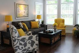 brilliant grey and yellow living room of european design ideas black color the