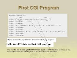 Browser Content Type Python Cgi Programming Ppt Video Online Download
