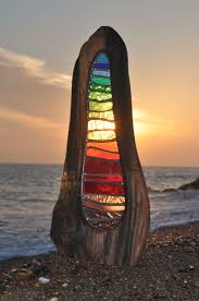 drop of rainbow louise v durham stained glass sculpture
