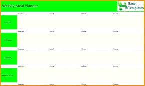 Week Calendar Template Excel Weekly 8 Planner Itinerary Sample 2015