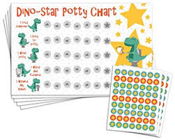 Potty Training Charts For Kids Potty Training Reward Chart With 189 Star Stickers For Toddler Boys Or Girls Dinosaur Theme Large 11 X 17 Size