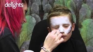 zombie face paint children s halloween zombie face paint tutorial you