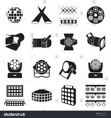 icon lighting. stage lighting icons scene equipment vector illustration icon c