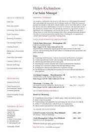 Sample Car Salesman Resumes Car Salesperson Resume Example Sales Auto Sales Resume