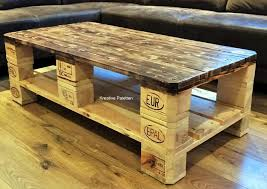 euro pallet wood coffee table pallet