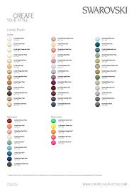 Pearl Color Chart Swarovski Crystal Pearl Color Chart Two Be Wed Jewelry