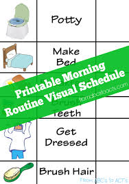Look below, and definitely print the first visual schedules for preschoolers. Printable Morning Routine Visual Schedule From Abcs To Acts