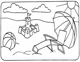 Small Picture Printable Coloring Pages Beach Coloring Pages