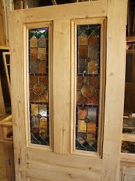 antique stained glass front door with