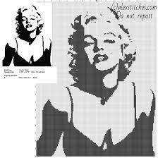 Free Marilyn Monroe Embroidery Designs Marilyn Monroe Black And White Monochrome Free Cross Stitch