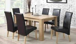 full size of dining table and leather chairs best oak veneer with 6 faux off room