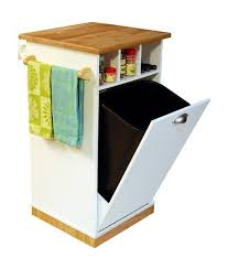 ... Kitchen Cart With Trash Bin Small Kitchen Cart Square Kitchen Cart With  Spices Shelf ...