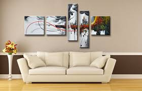 beige painting wall art for homes amazing decorations 5 pieces flowers vase ceramics chocolate brown