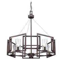 Marco Light Fixtures Golden Marco 5 Light Chandelier In Gunmetal Bronze