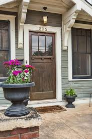 painting new exterior wood trim. craftman front door - house tour painting new exterior wood trim p