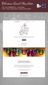 Holiday Newsletter Template Unique 44 Christmas Newsletter Templates PSD HTML Format Download