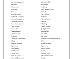 Resume List Of Resumes Action Word List For Resumes Verb Action