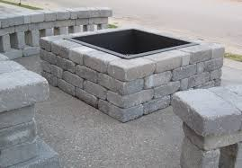 building a fire pit round block outdoor simple design of cinder block fire pit