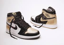 air jordan 1 top 3 black gold patent leather
