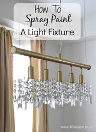 how to spray paint a light fixture from boring silver to gold statement light with