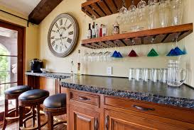 wine glass shelf kitchen contemporary with custom floating shelves