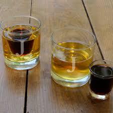 frost engraved lowball jager shot glasses set