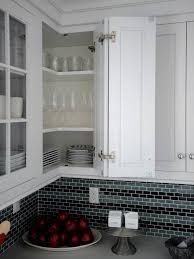 Cherry Wood Black Lasalle Door Staten Island Kitchen Cabinets Backsplash  Herringbone Tile Glass Limestone Countertops Sink